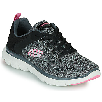 Chaussures Femme Fitness / Training Skechers FLEX APPEAL 4.0 Gris / Rose