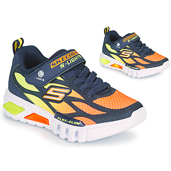 Chaussures Garçon Baskets basses Skechers FLEX-GLOW Marine / Orange