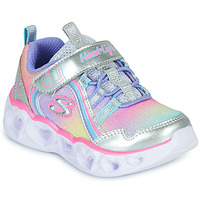 Chaussures Fille Baskets basses Skechers HEART LIGHTS RAINBOW LUX Argenté / Rose