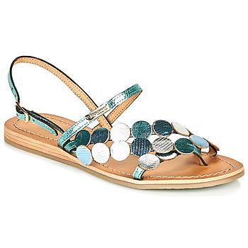 Chaussures Femme Sandales et Nu-pieds Les Tropéziennes par M Belarbi HOLO Argent / Bleu
