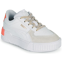Chaussures Fille Baskets basses Puma CALI SPORT PS Blanc / Rose