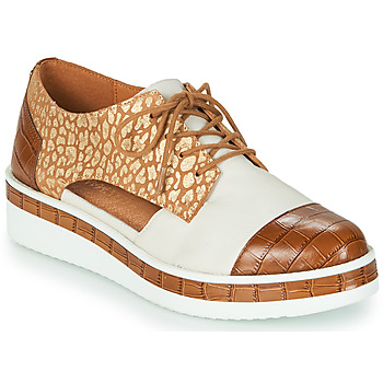 Chaussures Femme Derbies Mam'Zelle KIGALI Blanc / Marron