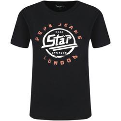 Vêtements Femme T-shirts manches courtes Pepe jeans PL504273 Noir