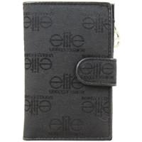 Sacs Femme Porte-monnaie Elite Porte monnaie  E7566 toile motif imprimé noir Noir