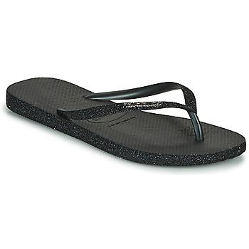 Chaussures Femme Tongs Havaianas SLIM SPARKLE II Noir