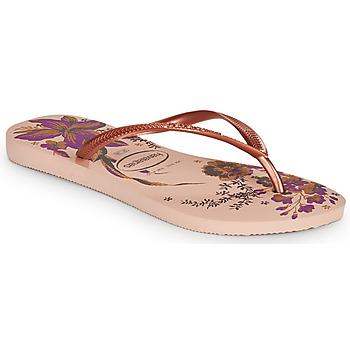 Chaussures Femme Tongs Havaianas SLIM ORGANIC Rose