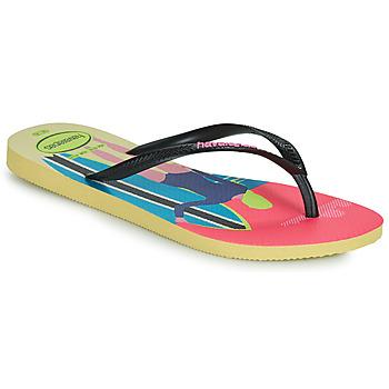 Chaussures Femme Tongs Havaianas SLIM STYLE MIX Jaune
