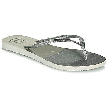 Chaussures Femme Tongs Havaianas SLIM PALETTE GLOW Blanc
