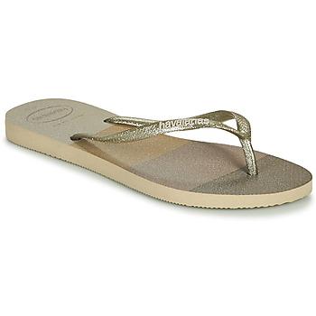 Chaussures Femme Tongs Havaianas SLIM PALETTE GLOW Beige