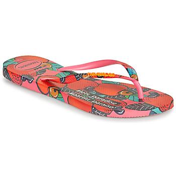 Chaussures Femme Tongs Havaianas SLIM SUMMER Rose / Rouge