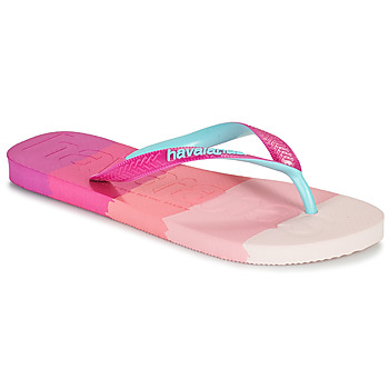 Chaussures Femme Tongs Havaianas TOP LOGOMANIA MULTICOLOR Rose