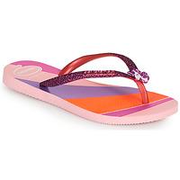 Chaussures Fille Tongs Havaianas KIDS SLIM GLITTER II Rose