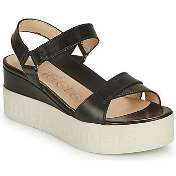 Chaussures Femme Sandales et Nu-pieds Wonders PESTEL Noir