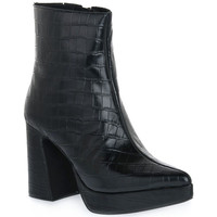 Chaussures Femme Low boots Jeffrey Campbell DORMANT BLACK CROCO Nero