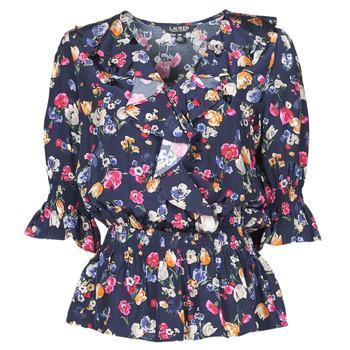 Vêtements Femme Chemises / Chemisiers Lauren Ralph Lauren HELZIRA Bleu / Multicolore