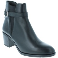 Chaussures Femme Bottines Amoa Bottines COURGIS Zip SERPENT NOIR