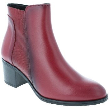Chaussures Femme Bottines Amoa Bottines COURTAIN Zip BORDEAUX SERPENT
