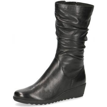 Chaussures Femme Bottes ville Caprice Bottes Compensées Noir Noir