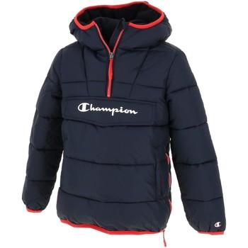 Vêtements Garçon Doudounes Champion Doudoune demi zip jr navy  ¤ Bleu marine / bleu nuit