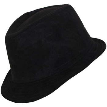 Accessoires textile Homme Chapeaux Chapeau-Tendance Chapeau trilby aspect daim T55 Noir