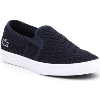 Chaussures Femme Slip ons Lacoste Gazon 219 1 Cfa Bleu marine