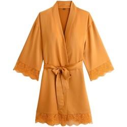 Vêtements Femme Pyjamas / Chemises de nuit Pommpoire Kimono moutarde Effrontée Jaune