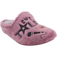 Chaussures Fille Chaussons Garzon maison fille  N4526.275 mauve Rose