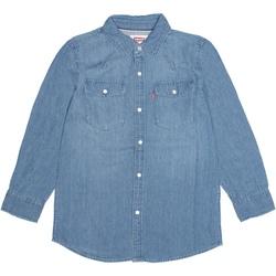 Vêtements Garçon Chemises manches longues Levi's Chemise garçon manches courtes Bleu