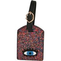 Accessoires textile Femme Porte-clés Bons Baisers De Paname Luggage Tag Shimmer Eyes ROSE
