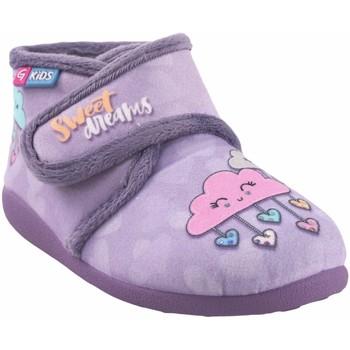 Chaussures Fille Chaussons bébés Garzon maison fille  N4053.246 mauve Gris