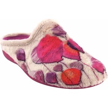 Chaussures Femme Chaussons Gema Garcia Rentrer à la maison Mme  7100-74 beige Rouge
