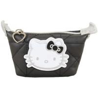 Sacs Femme Portefeuilles Hello Kitty Porte monnaie  Noir surpiqué Noir