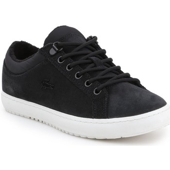 Chaussures Femme Baskets basses Lacoste Straightset Insulate Noir