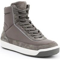Chaussures Femme Baskets montantes Lacoste Explorateur Calf Blanc, Gris, Beige