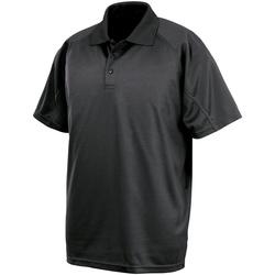 Vêtements Polos manches courtes Spiro SR288 Noir
