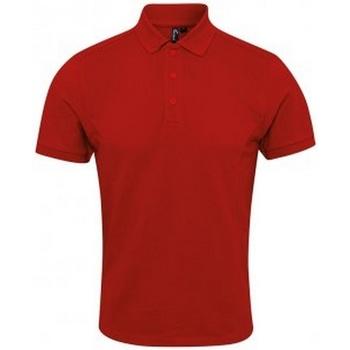 Vêtements Homme Polos manches courtes Premier PR630 Rouge