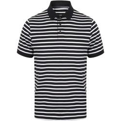 Vêtements Homme Polos manches courtes Front Row FR230 Bleu marine / blanc