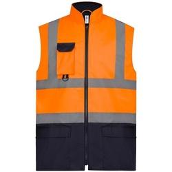 Vêtements Vestes Yoko YK215 Orange/ bleu marine