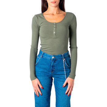 Vêtements Femme T-shirts manches longues Pieces 17101437 vert