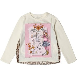 Vêtements Enfant T-shirts manches longues Guess T-Shirt Fille K84I07 Crème (rft) Blanc cassé