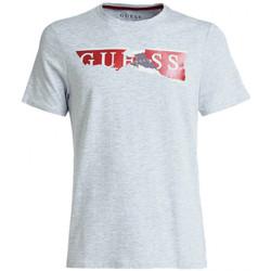 Vêtements Homme T-shirts manches courtes Guess T-Shirt Homme Ripped Logo M84I34 Gris (rft) Gris