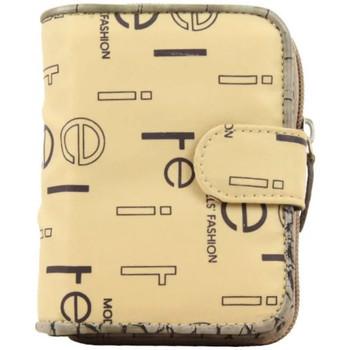 Sacs Femme Portefeuilles Elite Porte monnaie  E8734 toile nylon motif imprimé beige Beige