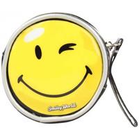 Sacs Femme Porte-monnaie A Découvrir ! Porte monnaie noir verni déco smiley jaune Noir
