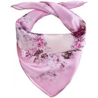 Accessoires textile Femme Echarpes / Etoles / Foulards Allée Du Foulard Carré de soie Piccolo Teflora rose