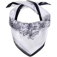 Accessoires textile Femme Echarpes / Etoles / Foulards Allée Du Foulard Carré de soie Piccolo Grapa blanc