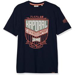 Vêtements Homme T-shirts manches courtes Kaporal T Shirt Homme ORZO Bleu Sombre Gris