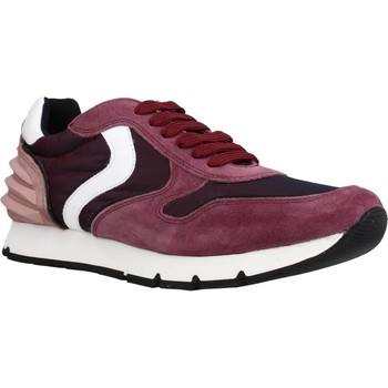 Chaussures Fille Baskets basses Voile Blanche LIAM POWER LACCIO Rouge