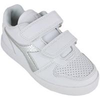Chaussures Fille Baskets basses Diadora playground ps girl c0516 Argenté