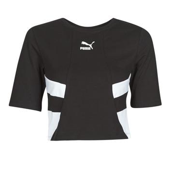Vêtements Femme T-shirts manches courtes Puma RETRO FROPnTOP Noir