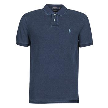 Vêtements Homme Polos manches courtes Polo Ralph Lauren POLO AJUSTE DROIT EN COTON BASIC Bleu